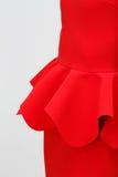 Kobieta w czerwieni sukni Obrazy Stock
