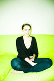 kobieta w domu Fotografia Stock