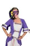 Kobieta w dziwacznym kostiumu obrazy royalty free