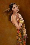 Kobieta w etnicznej sukni Obraz Royalty Free