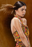 Kobieta w etnicznej sukni Zdjęcia Royalty Free