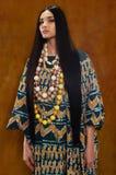 Kobieta w etnicznej sukni Fotografia Stock