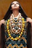 Kobieta w etnicznej sukni Zdjęcia Stock