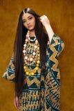 Kobieta w etnicznej sukni Zdjęcie Royalty Free