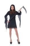 Kobieta w Halloween pojęciu Fotografia Royalty Free
