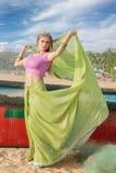 Kobieta w indyjskim sari Obrazy Stock