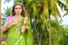 Kobieta w indyjskim sari Obraz Royalty Free