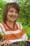Kobieta w jej ogrodowym vnatsionalnom kostiumu Zdjęcia Stock