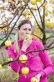 Kobieta w jesieni Zdjęcie Royalty Free