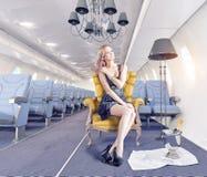 Kobieta w kabinie obraz royalty free