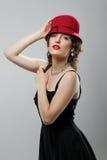 Kobieta w kapeluszu Zdjęcia Stock