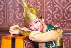 Kobieta w kazach kostiumu Obrazy Royalty Free