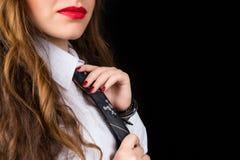 Kobieta w krawacie Obraz Royalty Free