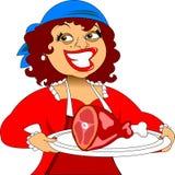 Kobieta w kuchni Fotografia Stock