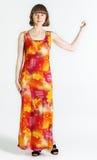 Kobieta w lato sukni fotografia royalty free