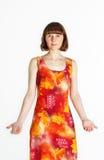 Kobieta w lato sukni obrazy stock