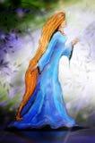 Kobieta w lesie ilustracja wektor
