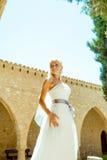 Kobieta w ślubnej sukni Fotografia Royalty Free