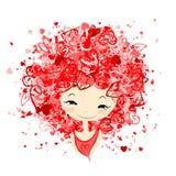 Kobieta w miłości, portret dla twój projekta royalty ilustracja
