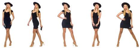 Kobieta w mod spojrzeniach odizolowywających na bielu Zdjęcia Stock