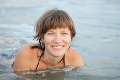 Kobieta W morzu Zdjęcia Royalty Free