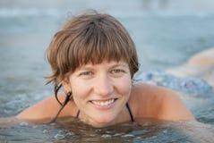 Kobieta W morzu Zdjęcia Stock
