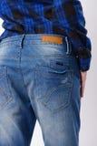 Kobieta w niebieskich dżinsach Obraz Royalty Free