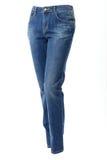 Kobieta w niebieskich dżinsach Fotografia Stock