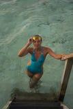 Kobieta w okularach przeciwsłoneczne Fotografia Stock
