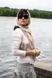 Kobieta w okulary przeciwsłoneczne Fotografia Stock