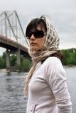 Kobieta w okulary przeciwsłoneczne Zdjęcie Royalty Free