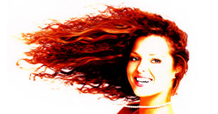 kobieta włosów Obraz Royalty Free