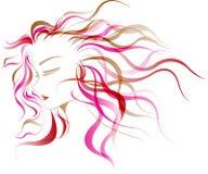 Kobieta włosiany styl Obrazy Stock