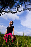 Kobieta w parku Fotografia Stock