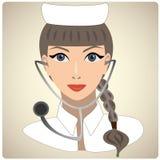 Kobieta w postaci lekarki Royalty Ilustracja