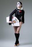 Kobieta w przebranie arlekinie zdjęcie royalty free