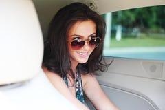 Kobieta w samochodowym wnętrzu Obraz Stock