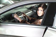 Kobieta W Samochodzie Fotografia Royalty Free