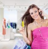 Kobieta w sklepie obrazy royalty free