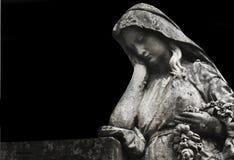 Kobieta w stroskaniu jako symbol śmierć Zdjęcia Royalty Free