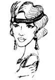 Kobieta w stylu 20's Royalty Ilustracja
