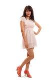 Kobieta w sukni zdjęcie stock