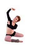 Kobieta w taniec pozie Zdjęcia Royalty Free