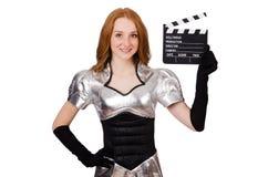Kobieta w techniki pojęciu Fotografia Royalty Free