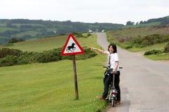 Kobieta w wakacji target208_1_ Zdjęcia Royalty Free