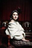 Kobieta w wiktoriański krześle Obrazy Stock