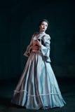 Kobieta w wiktoriański sukni Fotografia Stock