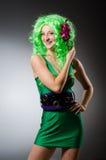 Kobieta w świątobliwym Patrick Fotografia Royalty Free
