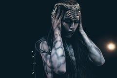 Kobieta w wizerunku extraterrestrial obcych wi i humanoid fotografia stock