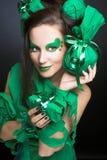 Kobieta w zieleni. Zdjęcie Royalty Free